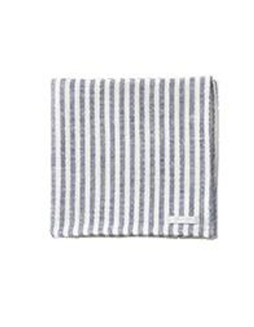 Linen Ticking  Stripe Towel in Blue / White