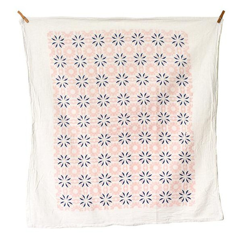 Chicory Dish Towel in Vintage Pink