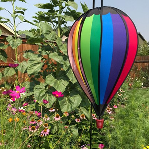 Rainbow Spectrum 10 Panel Hot Air Balloon Spinner