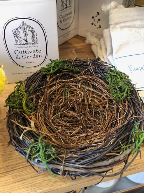 """Twig and Moss Bird Nest 5"""""""