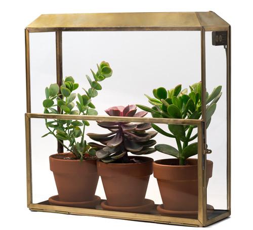 Growhouse - Greenhouse with Grow Lights (Brass + Glass)