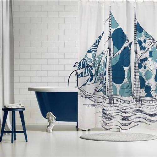 Dazzle Ship Shower Curtain