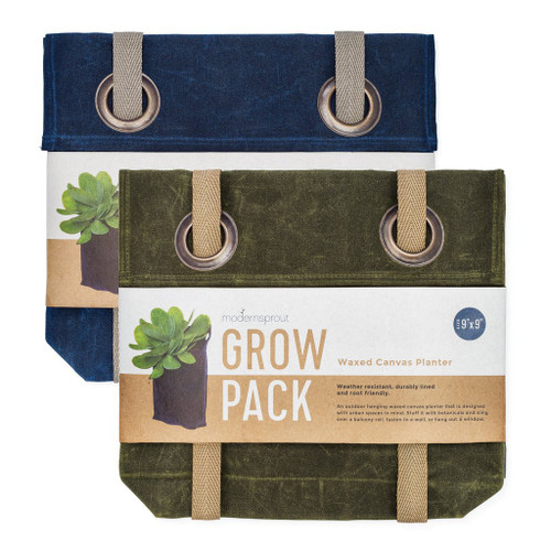 Grow Pack in Waxed Canvas Olive