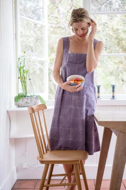 Apron Dress in Purple Dream One Size