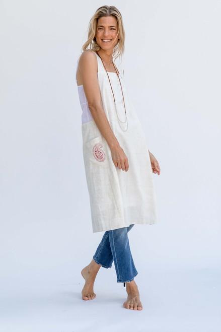 Apron Dress in Cream Dream White One Size