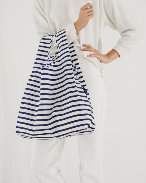 Baggu Standard Size in Sailor Stripe Blue