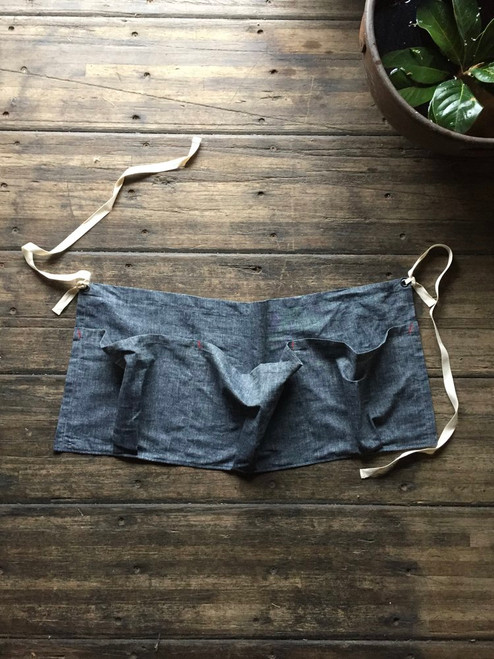 Forager Apron - Nordic Blue Chambray