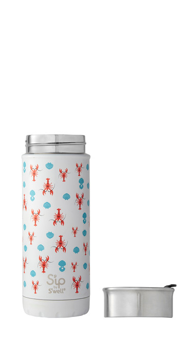 Sip By Swell Cold and Hot Tumbler 16 oz in Pinch Me Lobster Print