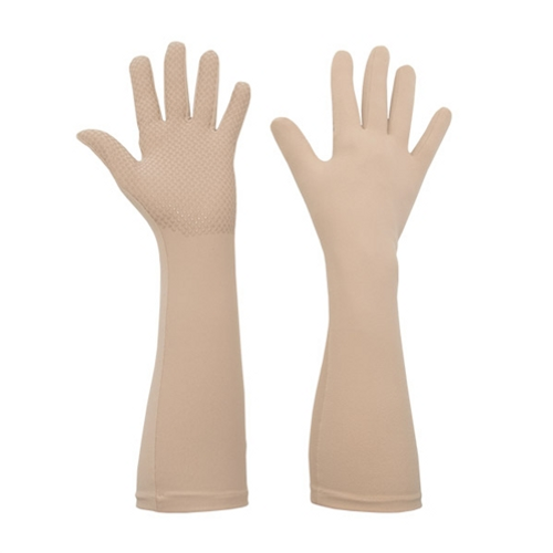 Foxgloves Long Gardening Gloves in Elle Grip Size LARGE in Sahara
