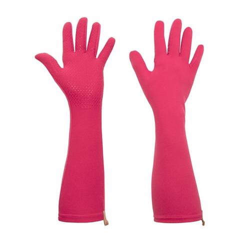 Foxgloves Long Gardening Gloves in Elle Grip Size LARGE in Fuchsia
