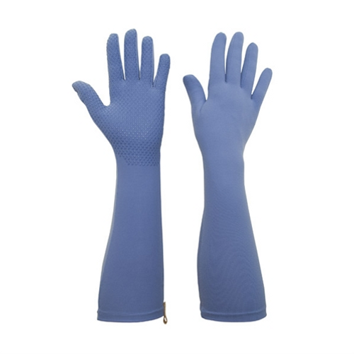 Foxgloves Long Gardening Gloves in Elle Grip Size LARGE in Periwinkle Blue