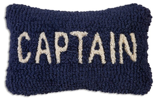 "Captain Hooked Wool Pillow 8"" x 12"""