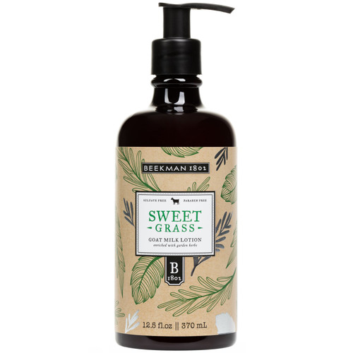 Sweet Grass Goat Milk Lotion Enriched with Garden Herbs Beekman 1802