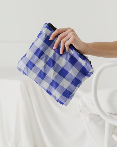 Baggu Packable Backpack in Big Blue Check