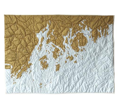 Penobscot Bay Maine Quilt Gold