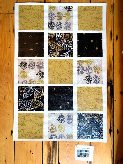 Canvas Floor Cloth in Leaves by Jane Dunstan of Creative Floor Cloth Designs