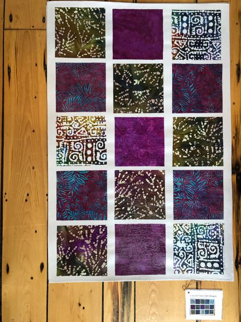 Canvas Floor Cloth in Batik by Jane Dunstan of Creative Floor Cloth Designs