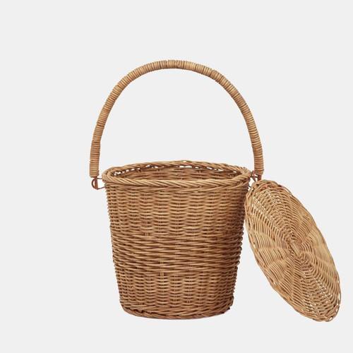 Apple Basket in Large Rattan