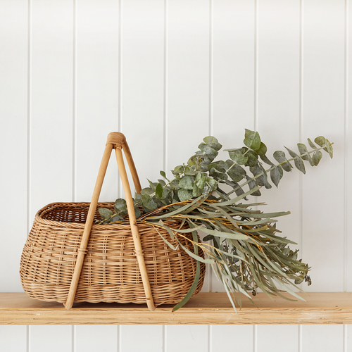 Mosey Basket in Large Rattan