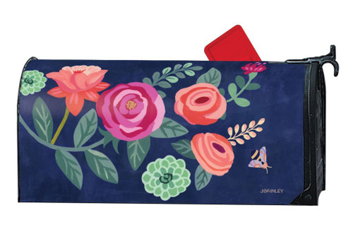 Boho Flowers Magnetic Mailbox Wrap