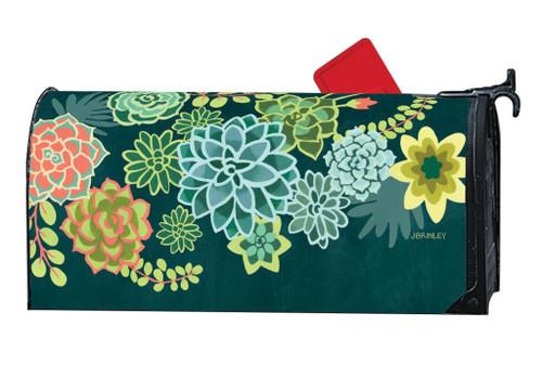 Boho Succulents Magnetic Mailbox Wrap
