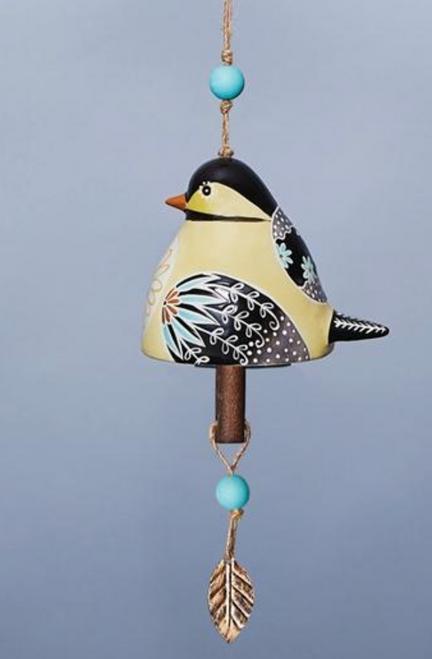 Ceramic Bird Bell in Chickadee