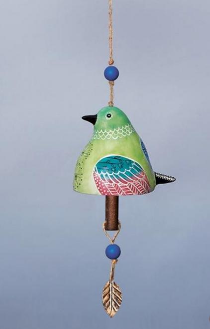 Ceramic Bird Bell in Hummingbird