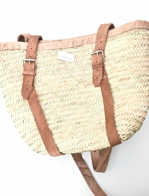 French Farmers Market Leather Trimmed Backpack