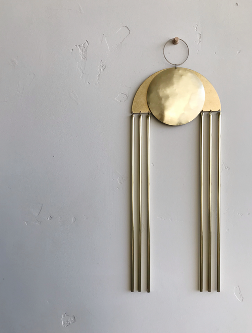 """Sol Brass Wallhanging 6"""" x 17"""""""
