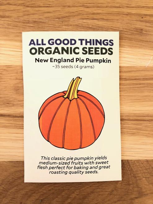 Organic New England Pie Pumpkin Seeds