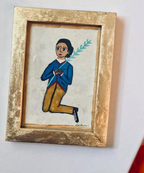 Framed Original Luis Romero Painting Little Prince