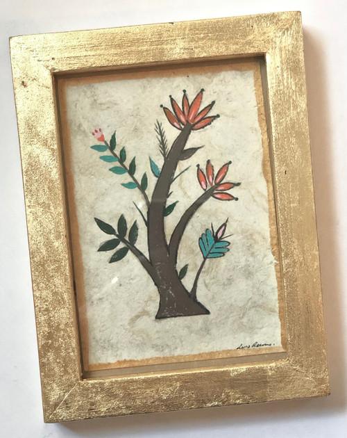 Framed Original Luis Romero Painting Tree of Life