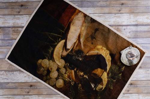 Old Masters Tea Towel in Oistre Oyster Still Life