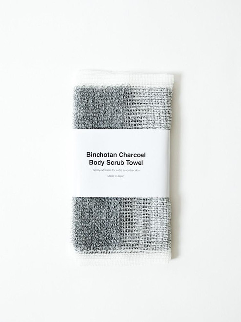 Binchotan Charcoal Body Scrub Towel