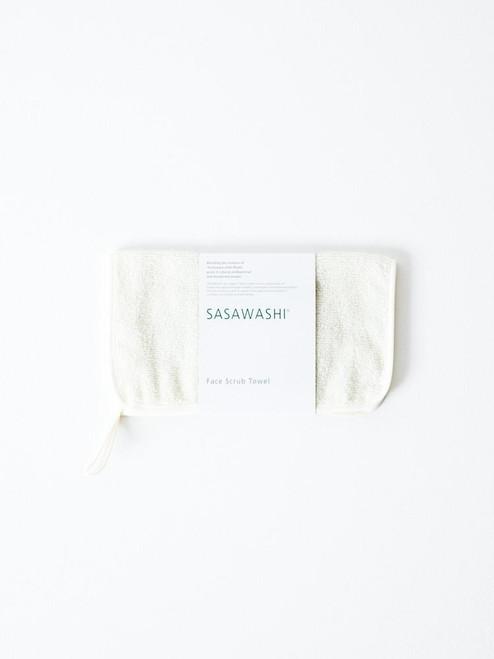 Sasawashi Face Scrub Towel Antibacterial