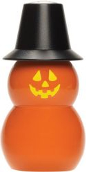 "4"" Jack O ' Lantern Pumpkin in Black Hat Salt Shaker  Made in Maine!"
