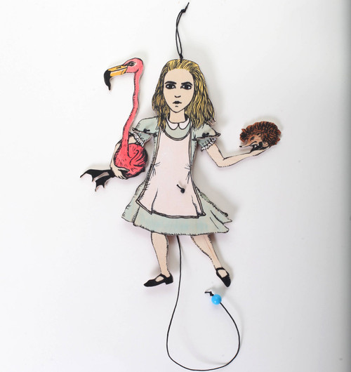 ALICE IN WONDERLAND handmade Jumping Jack