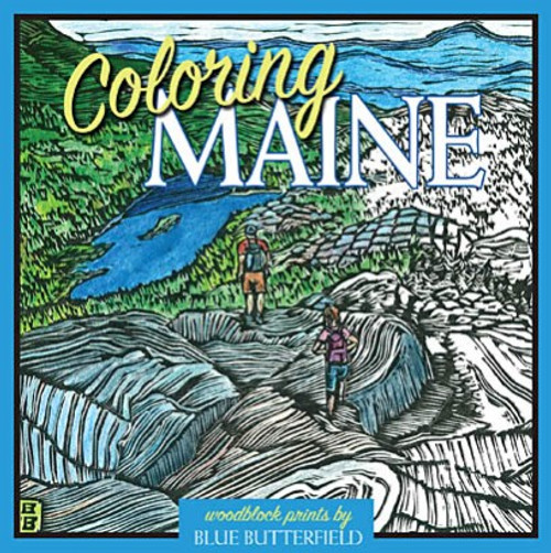 Coloring Maine Woodblock Prints by Blue Butterfield