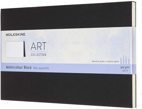 Moleskine Art Watercolor Block, Large, Black (5 X 8.25)