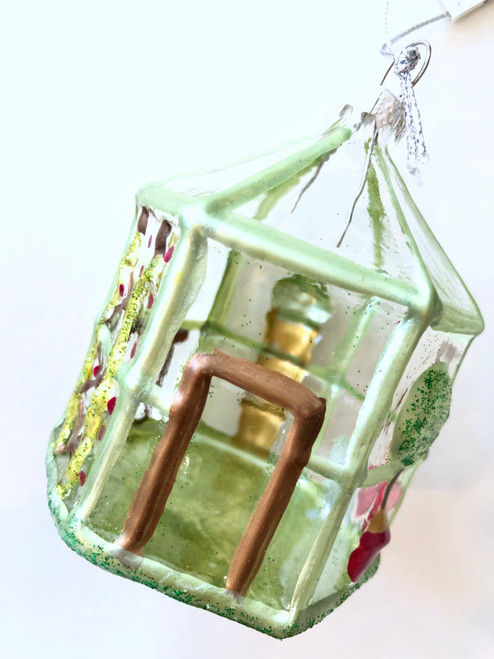 Glass Greenhouse Ornament #2