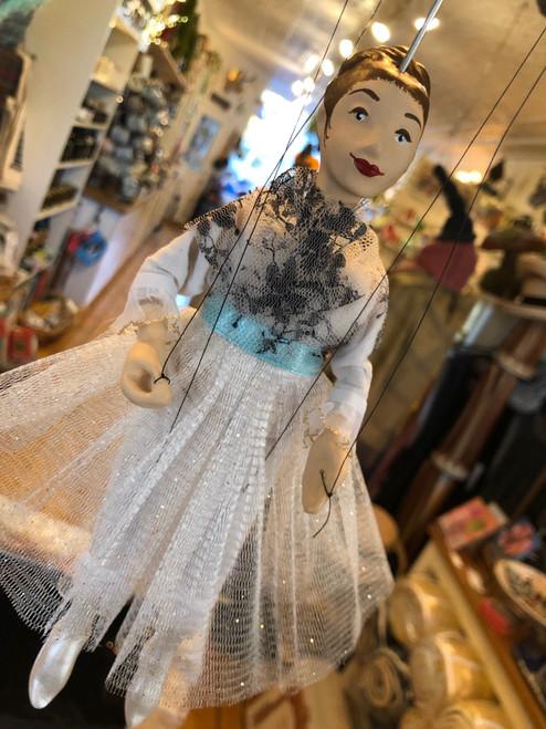 Marionette Puppet Ballerina in White
