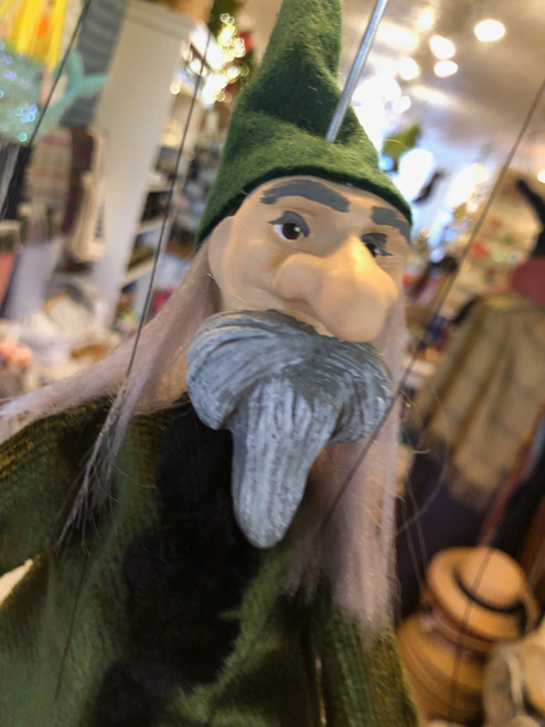 Marionette Puppet Wizard in Regal Green