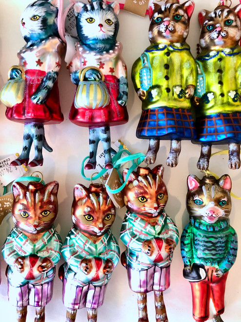 Cats in Clothes Ornament Assorted Styles and Colors by Nathalie Lètè