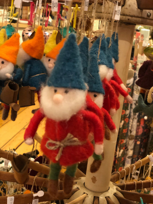 Wool Felt Gnome Ornament in Assorted Styles (3)