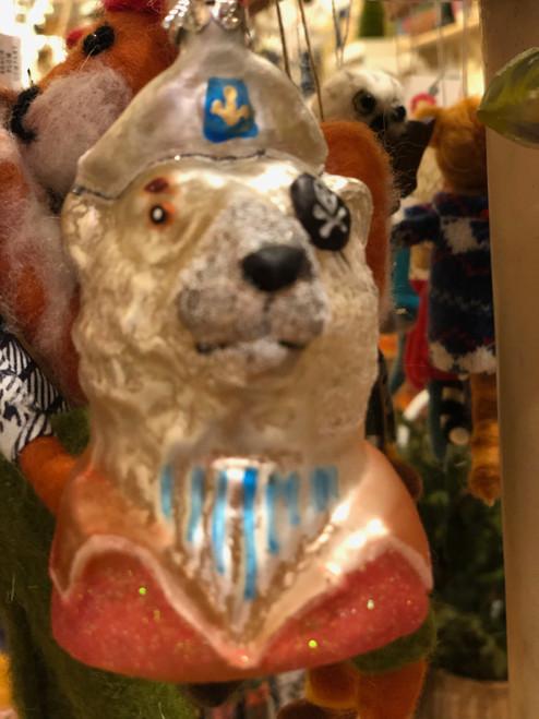Bear Eye Patch Pirate Sea Captain Ornament