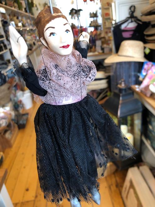 Marionette Puppet Ballerina in Black