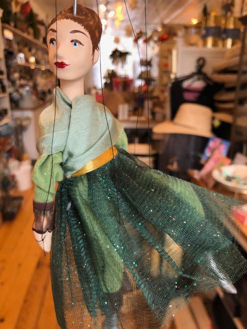 Marionette Puppet Ballerina in Green