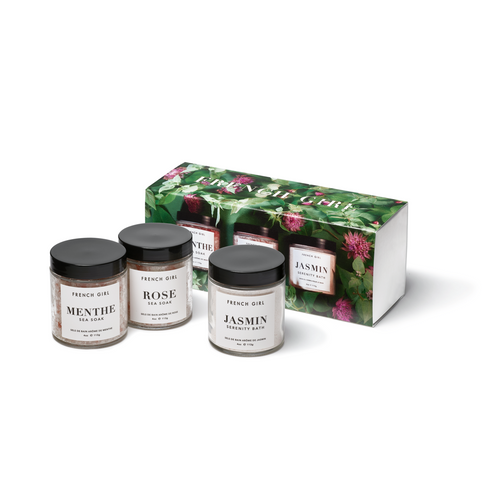 Sea Soak Trio French Girl Gift Box Set (Menth/Mint, Rose, Jasmin)