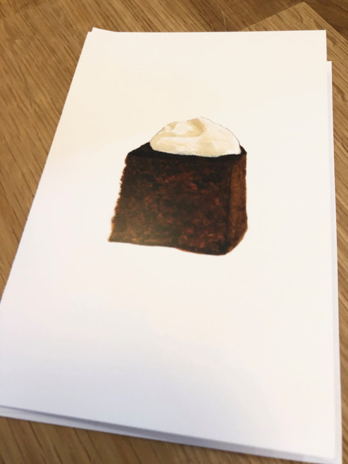 Gingerbread Chocolate Greeting Card (with Detachable Recipe Card) by Evan Stevens Boothbay, Maine Artist
