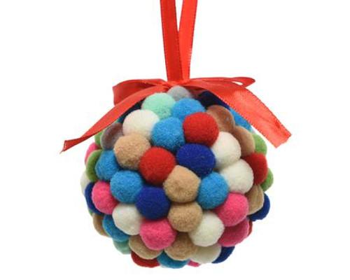 Colorful Pom Pom Ornament